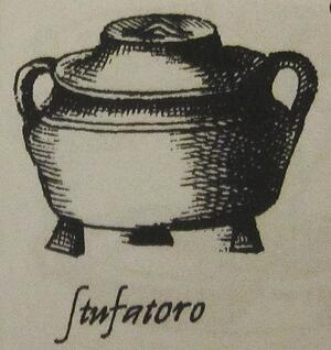 stufatoro pot from Bartolomeo Scappi's L'Opera