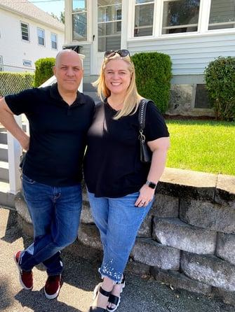 Author Crystal King and her husband, Joe