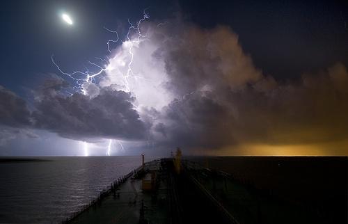 Lightning on Galveston Bay