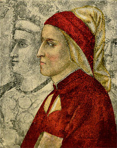 Profile of Dante Alighieri, one of the most re...